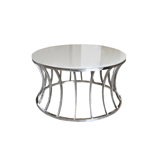 Crescent Coffee Table - Silver