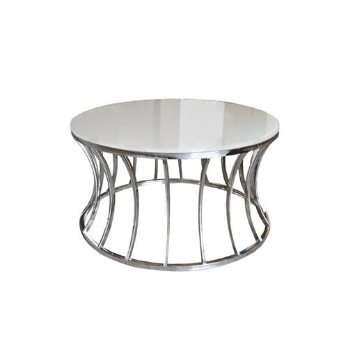 Crescent Coffee Table - Silver