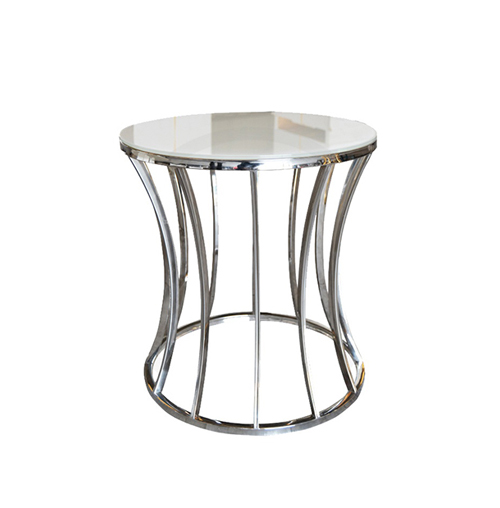Crescent Side Table - Silver