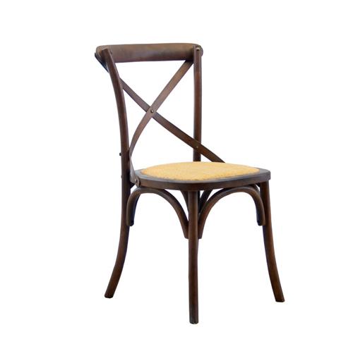 Cross Back Chair - Rustic