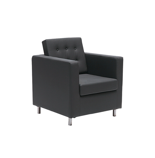 Knoll Single Seater Sofa - Black