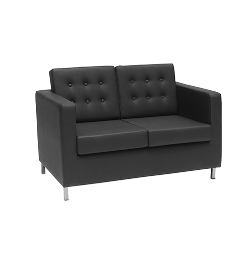 Knoll Two Seater Sofa - Black