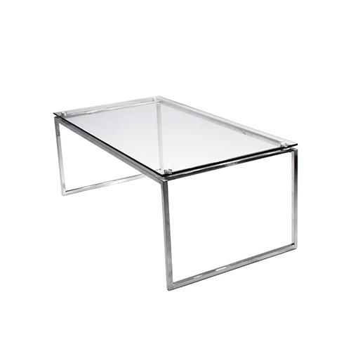 Maxim Rectangle Coffee Table - Glass Top