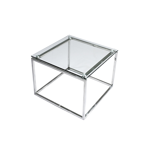 Maxim Square Coffee Table - Glass Top