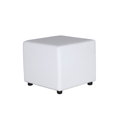 Ottoman Cube - White