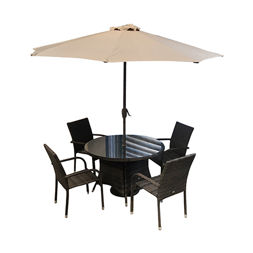 Outdoor Furniture Set with 100cm (Dia) Table