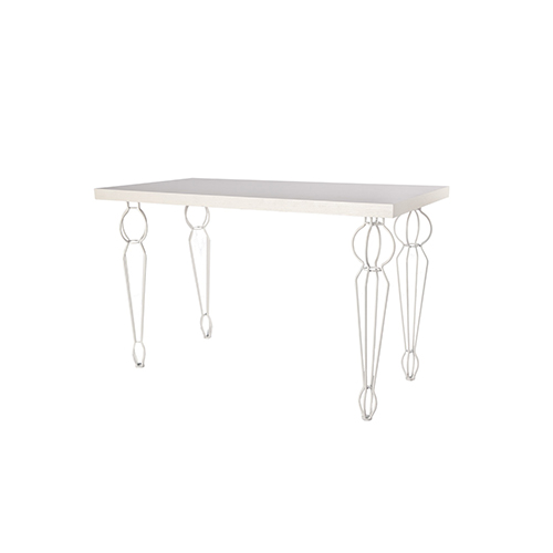 Whitewash Dining Table with White Parisian Legs - 120cm x 60cm