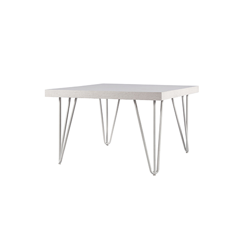 Whitewash Square Coffee Table