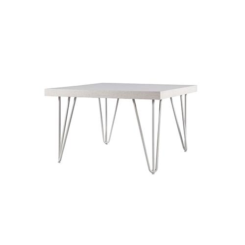 Whitewash Square Coffee Table