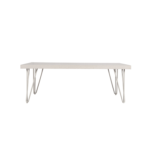 Whitewash Rectangle Coffee Table with Hairpin Legs