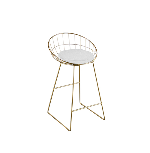 Wire Bar Stool (Gold)