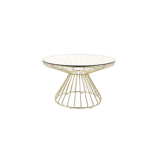 Wire Coffee Table (Gold)