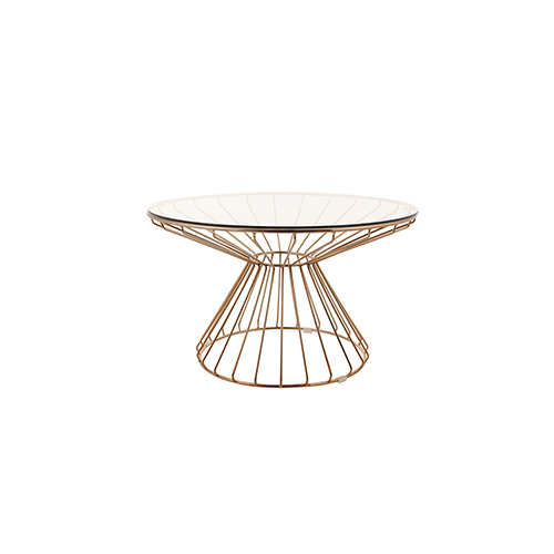 Wire Coffee Table (Rose Gold)