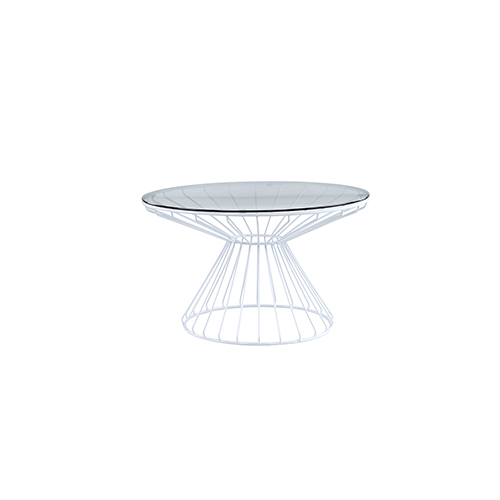 Wire Coffee Table (White)