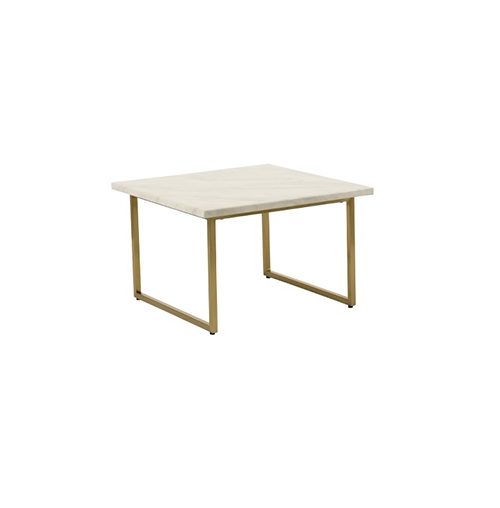 Zelda Gold Square Coffee Table