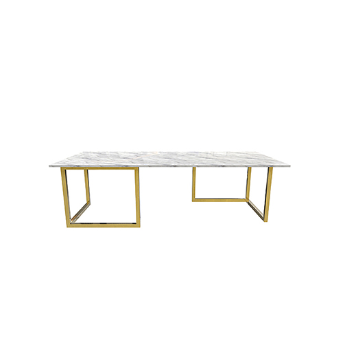Zelda Gold Rectangular Coffee Table