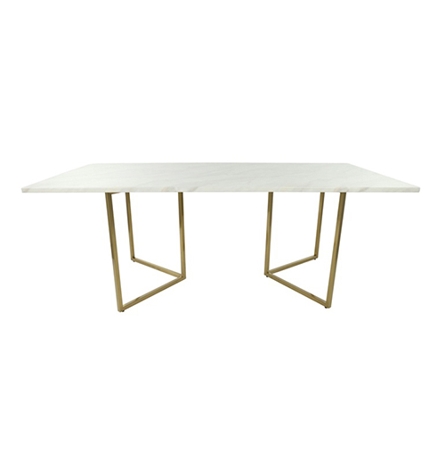 Zelda Gold Rectangle Dining Table