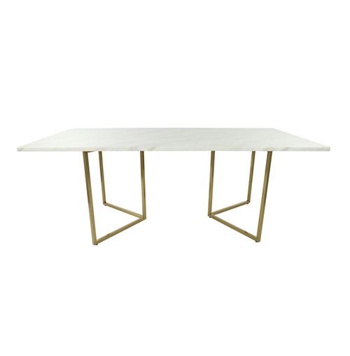 Zelda Gold Rectangle Dining Table