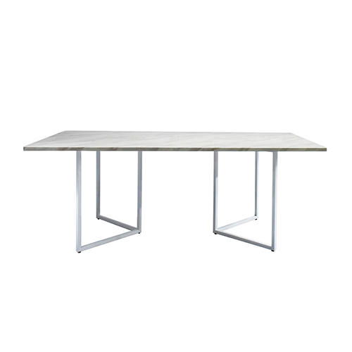 Zelda White Dining Table with White Leg