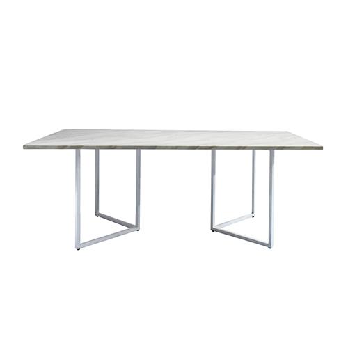 Zelda Rectangle Dining Table - White