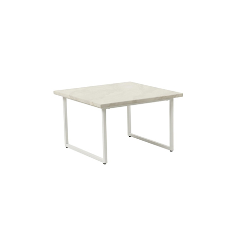 Zelda Square Coffee Table - White
