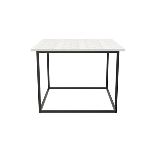 Zelda White Cafe Table with Black Legs