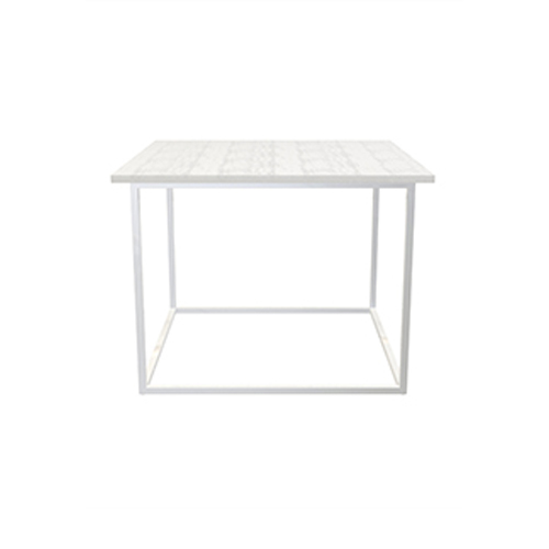 Zelda White Cafe Table with White Legs