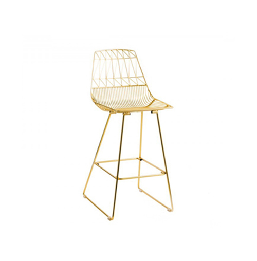 Arrow Bar Stool (Gold)