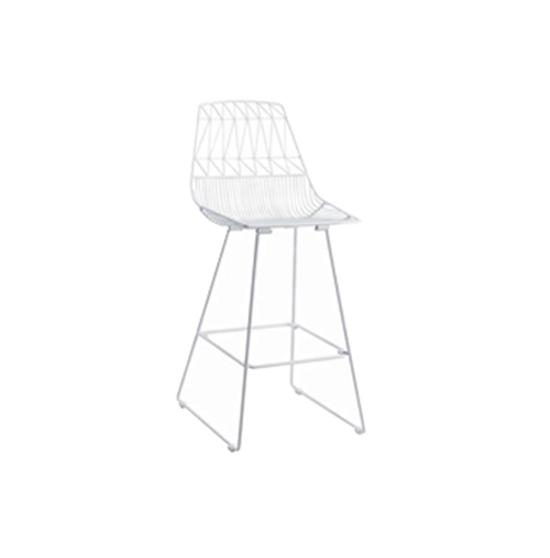 Arrow Bar Stool (White)
