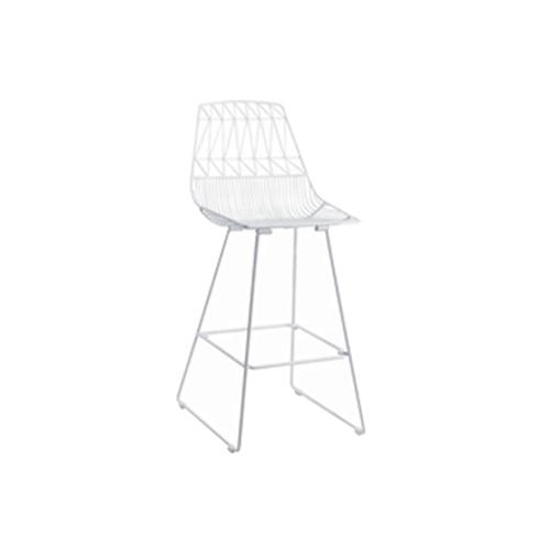 Arrow Bar Stool (White)
