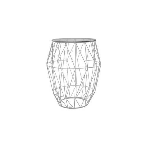 Arrow Side Table - White