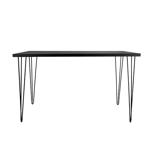 Blackwash Rectangle Cocktail Table with Black Hairpin Leg