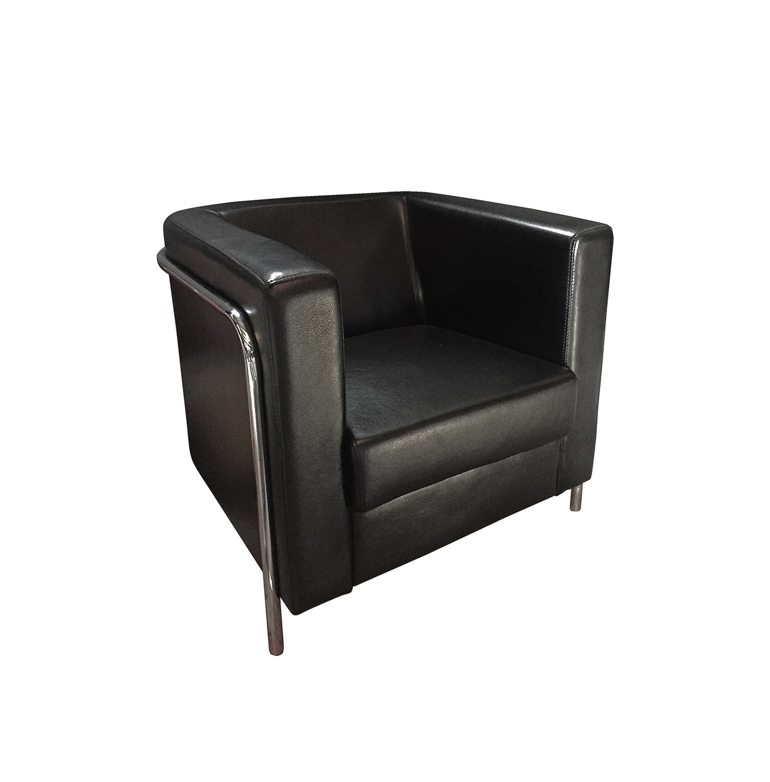 Corbusier Single Seater Sofa - Black