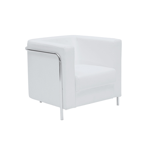 Corbusier Single Seater Sofa - White