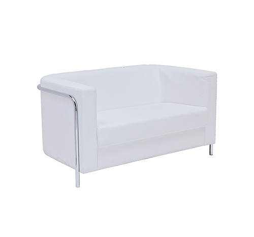 Corbusier Two seater Sofa - White