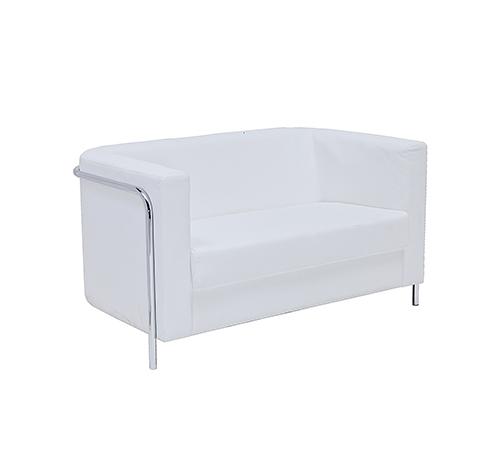 Corbusier Two seater Sofa - White