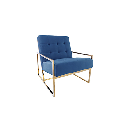 Elle Single Seater Sofa Blue