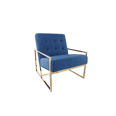 Elle Single Seater Sofa Blue
