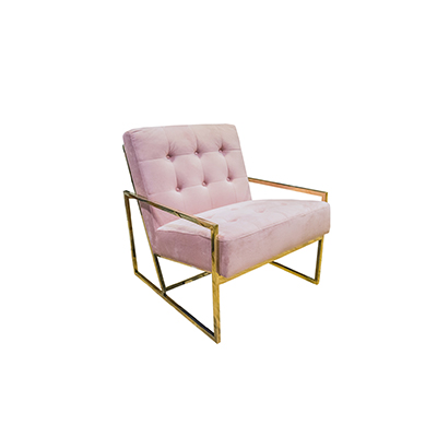 Elle Single Seater Sofa Pink