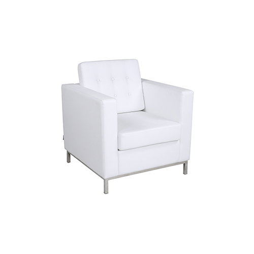 Knoll Single Seater Sofa - White