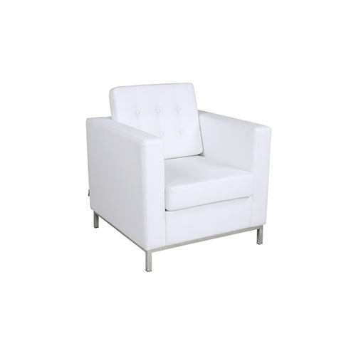Knoll Single Seater Sofa - White