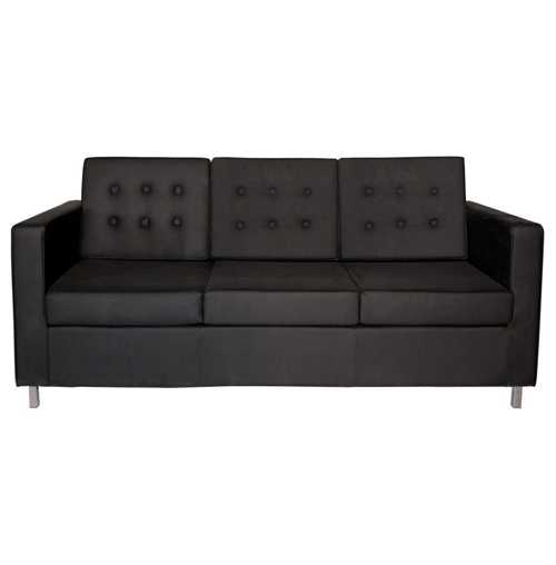 Knoll Three Seater Sofa  - Black