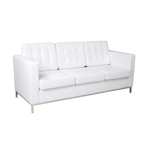 Knoll Three Seater Sofa - White