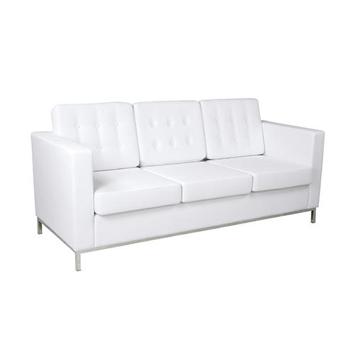 Knoll Three Seater Sofa - White