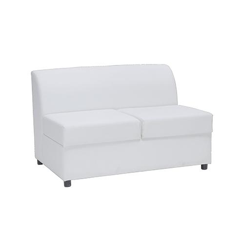 Marina Two Seater Sofa - White