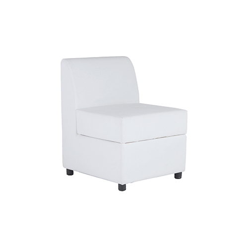 Marina Single Seater Sofa - White