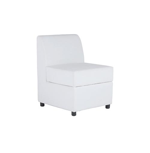 Marina Single Seater Sofa - White