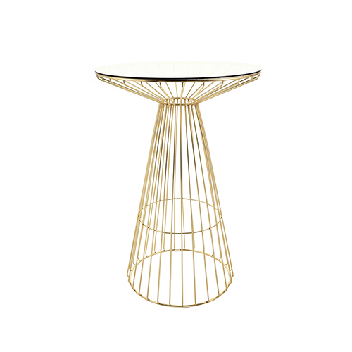 Gold Wire Cocktail Table
