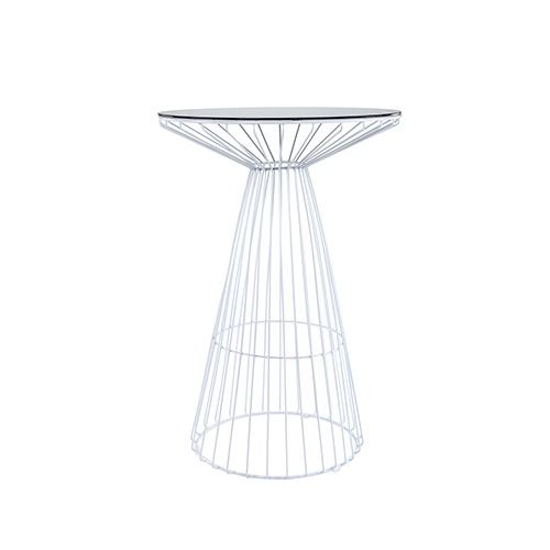White Wire Cocktail Table