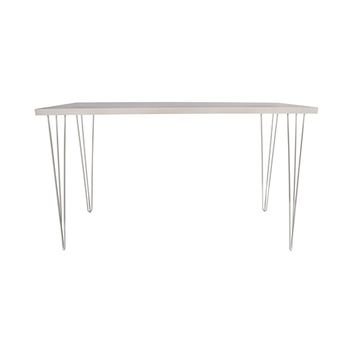 Whitewash Cocktail Table with White Hairpin Leg 183(L)